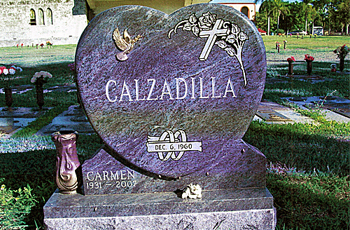 Heart Shaped Companion And Double Headstones For Sale