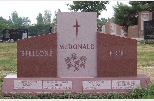 Pictures Of Pink Granite Headstones And Monuments For Sale