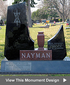 Featured Cemetery Monument from City Monument Company of Miami, Florida
