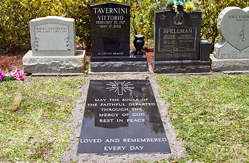 Grave Ledger Designed Engraved And Set In Miami Cemetery