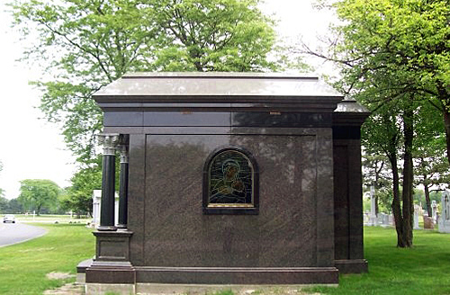 Side view of completed mausoleum